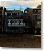 Beach Buildings - Greeting Card Metal Print