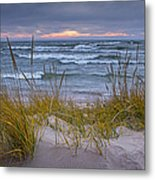 Beach By Holland Michigan No 0192 Metal Print
