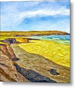 Beach Cliffs South Of San Onofre Metal Print