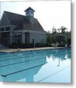Beach Club And Pool At Tega Cay Metal Print