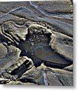 Beach Contours1 Metal Print