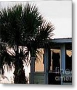 Beach Cottage Clothesline Metal Print