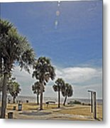 Beach Day After Issac  Metal Print