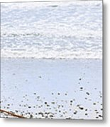Beach Detail On Pacific Ocean Coast Metal Print