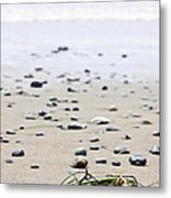Beach Detail On Pacific Ocean Coast Of Canada Metal Print
