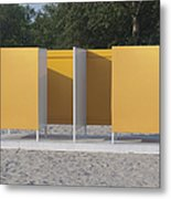 Beach Dressing Rooms Metal Print by Jaak Nilson