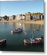 Beach Front, St Ives, Cornwall Metal Print