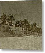 Beach Huts In A Tropical Paradise Metal Print