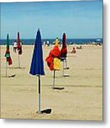 Beach In Deauville Metal Print