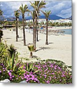Beach In Puerto Banus Metal Print