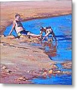 Beach Play Metal Print