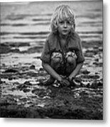 Beach Play Metal Print
