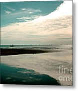 Beach Reflection Metal Print