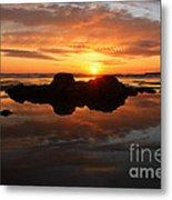 Beach Reflections Metal Print