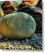 Beach Rocks Metal Print