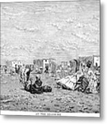 Beach Scene, 19th Century Metal Print
