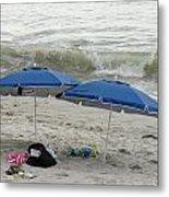 Beach Umbrells 40 Metal Print