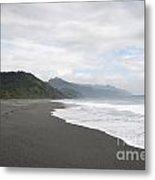 Beach Walked Alone Metal Print