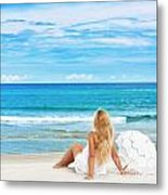Beach Woman Metal Print