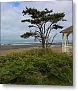 Beachside Gazebo Metal Print