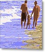 Beachwalk Metal Print