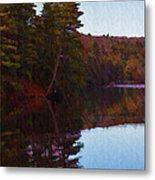 Bear Creek Lake In The Poconos Metal Print