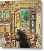 Bear In The Kitchen - Dream Series 7 Metal Print