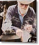 Bearded Miner Making Billy Tea Metal Print