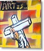 Bearing The Cross Metal Print