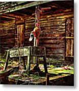 Beaten Down Barn Building Metal Print