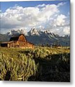 Beautiful Barn Grand Teton  Metal Print