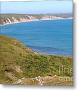 Beautiful Coastline Of Point Reyes California . 7d16050 Metal Print by Wingsdomain Art and Photography
