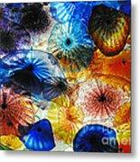 Beautiful Glass Flowers Metal Print