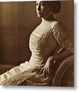 Beautiful Lady In 1880 Metal Print
