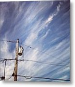 Beautiful Sky This Morning Metal Print by Katie Cupcakes