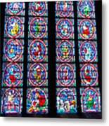 Beautiful Stained Glass At Notre Dame Cathedral Metal Print