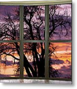Beautiful Sunset Bay Window View Metal Print