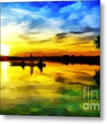 Beautiful Sunset Metal Print by Vidka Art