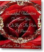 Beautiful Valentine Metal Print