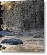 Beautiful View Of A Stream Finding Metal Print