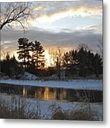 Beautiful Winter Dawn Metal Print