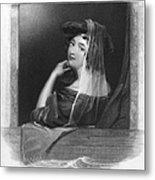 Beauty In Gondola, 1842 Metal Print