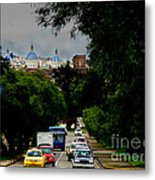 Beauty Of Avenida Solano In Cuenca Metal Print