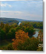 Beauty On The Bluffs Autumn Colors Metal Print