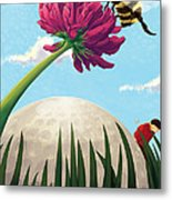 All Players Great And Small - Bee Metal Print