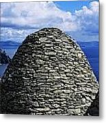 Beehive Huts At The Coast, Skellig Metal Print by The Irish Image Collection