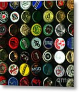 Beer Bottle Caps . 9 To 12 Proportion Metal Print