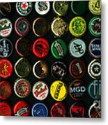 Beer Bottle Caps . 2 To 1 Proportion Metal Print by Wingsdomain Art and Photography