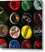 Beer Bottle Caps . 3 To 1 Proportion Metal Print by Wingsdomain Art and Photography