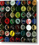 Beer Bottle Caps . 8 To 10 Proportion Metal Print by Wingsdomain Art and Photography